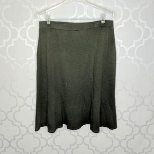 St John Collection Green Santana Knit Skirt
